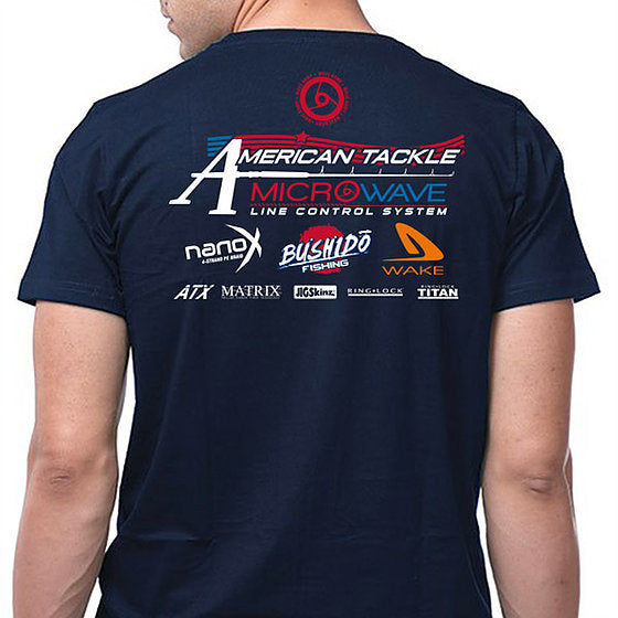 American Tackle ProStaff Short Sleeve T-Shirt - Navy Blue