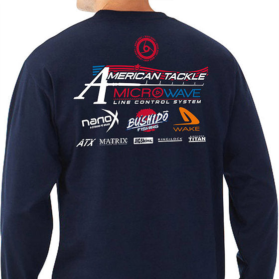 446f5f672cc4 American Tackle ProStaff Long Sleeve Shirt - Navy – American Tackle ...