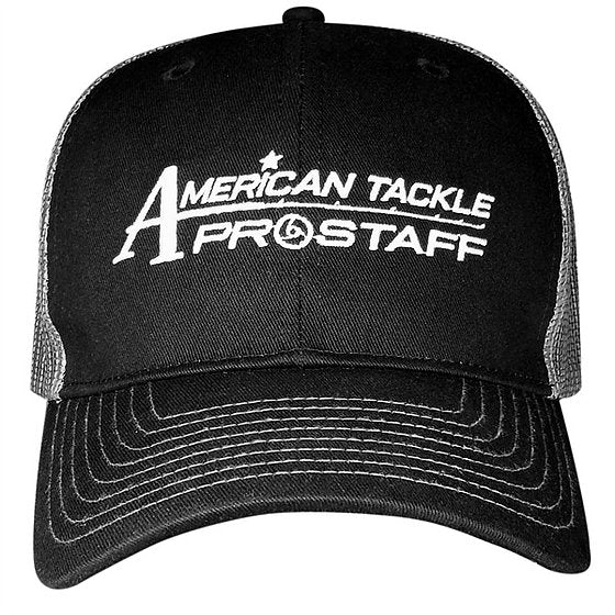 American Tackle ProStaff Mesh Back Trucker Hat - Black