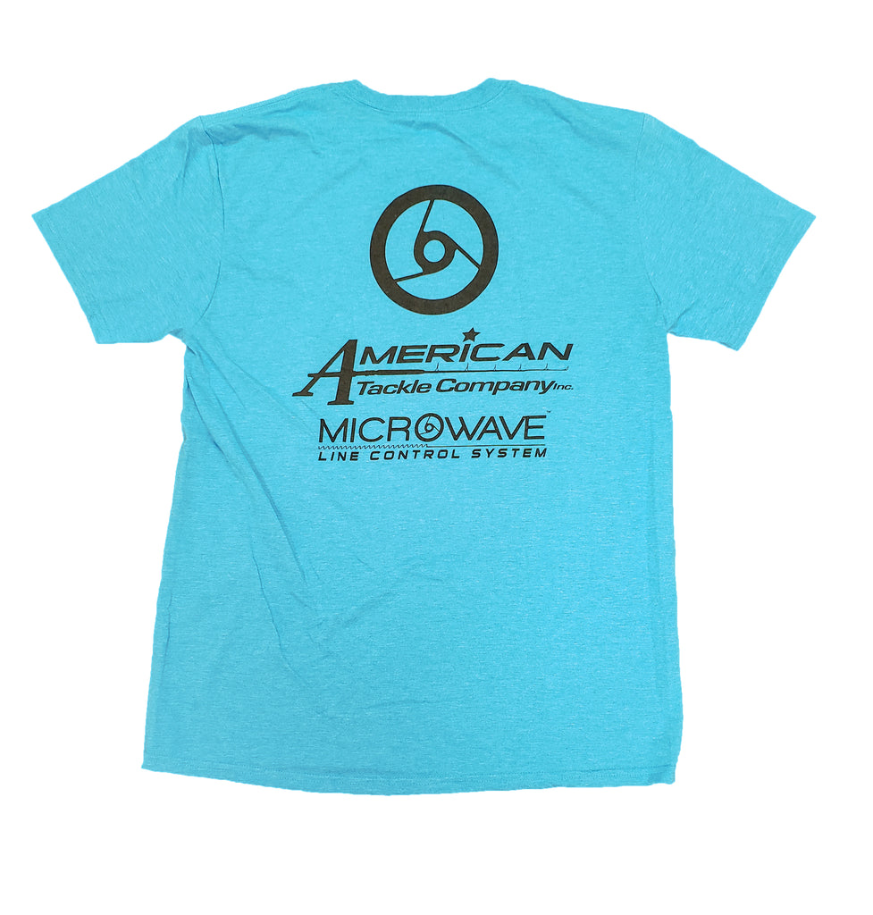 American Tackle Company Short Sleeve Shirt - Heather Aqua Blue