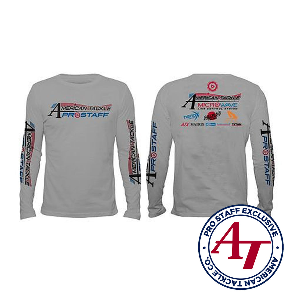 American Tackle ProStaff Long Sleeve Denali Performance Shirt - Grey