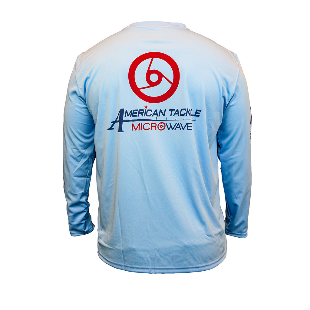American Tackle MicroWave Long Sleeve Denali Performance Shirts - Delph Blue