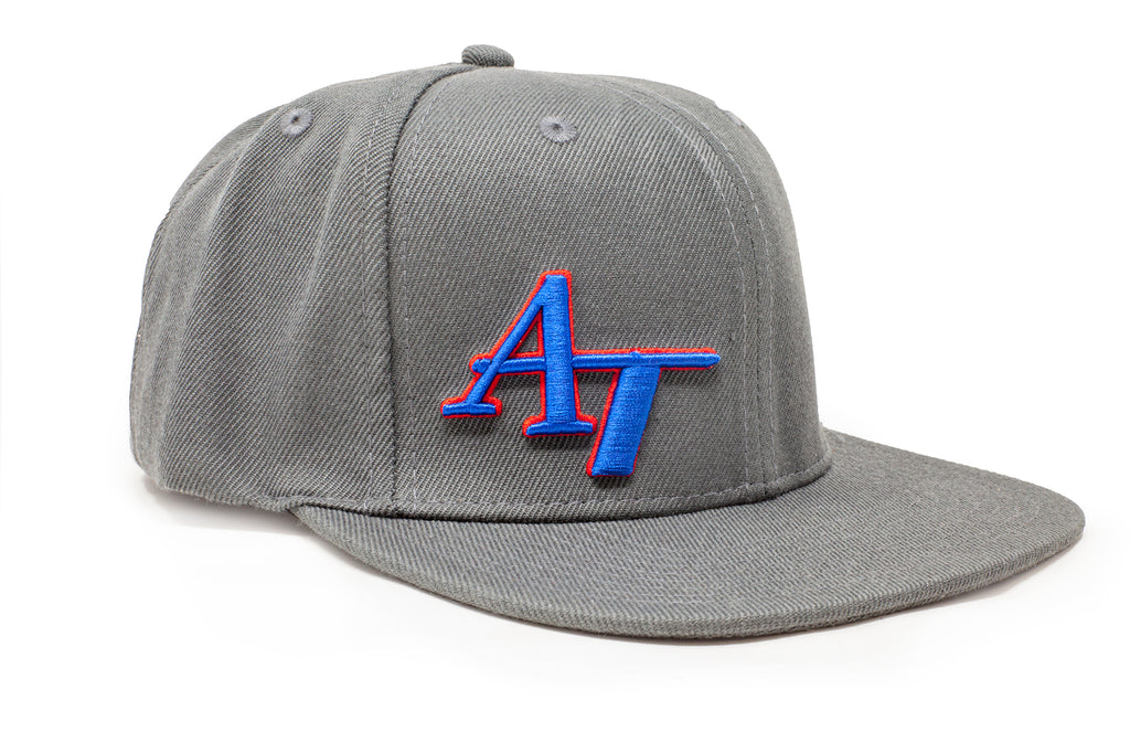 American Tackle Flat Bill Hat - Grey