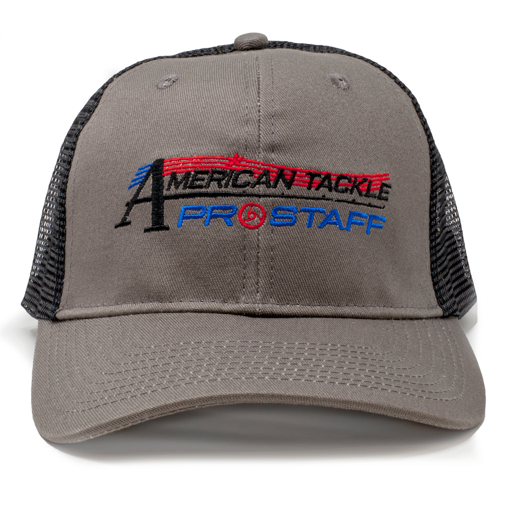 American Tackle ProStaff Mesh Back Trucker Hat - Grey