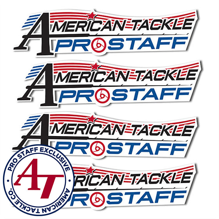 American Tackle ProStaff Logo Decal 4 Pack