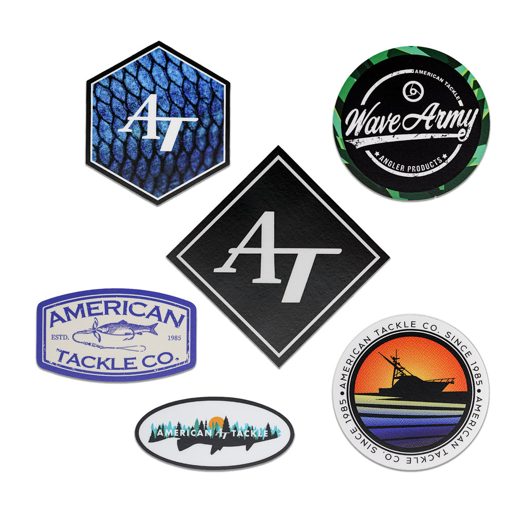 American Tackle Sticker 3 Packs (Assorted Designs)