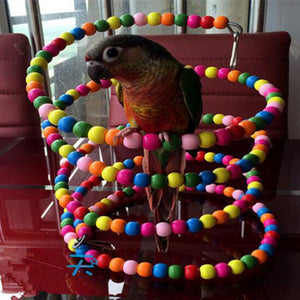 Rainbow Bead Parrot Swing Ladder