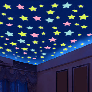 Glow in the Dark Luminous Star Wall Stickers