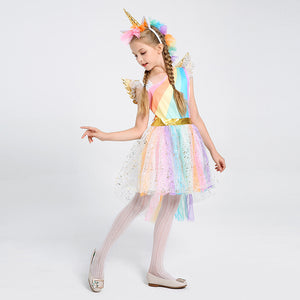 Halloween Rainbow Unicorn Costume