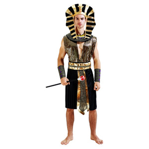 Egyptian Pharaoh and the Beautiful Cleopatra Adults Halloween Party Costumes
