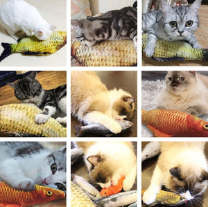 Interactive Catnip Fish Pillow