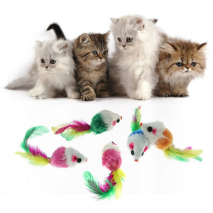 Colorful Furry Mice Toys