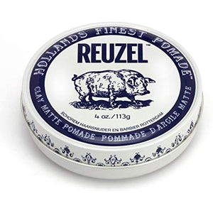 Reuzel Clay Matte Hair Pomade for Men, 4 Oz
