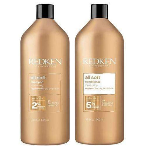 Redken All Soft Shampoo & Conditioner Liter Duo
