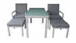 PAOLA 5pc Cube Dining Set