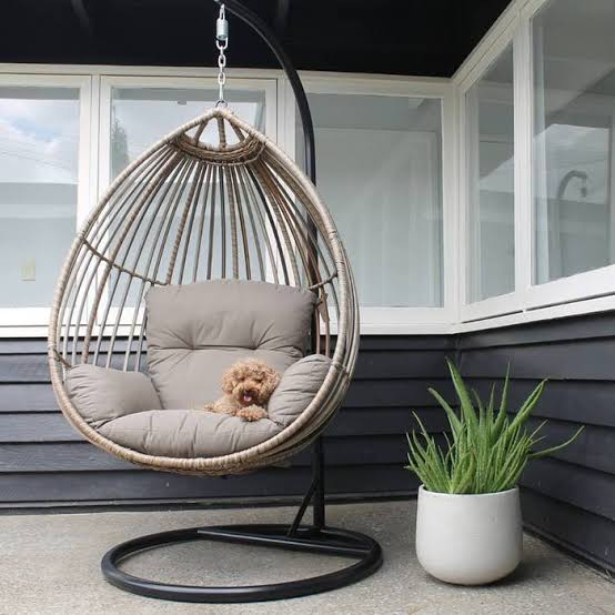 Cocoon Premium Solarfast® wicker hanging Egg chair HANGING EGG Nest - OSMEN OUTDOOR FURNITURE-Sydney Metro Free Delivery