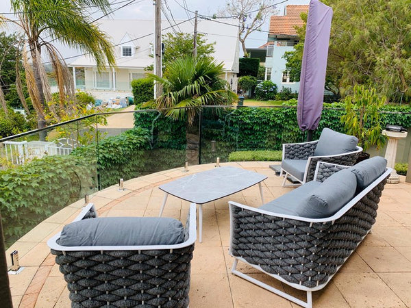 Los Angeles Premium Acrylic rope® 4pc lounge setting LOUNGE OSMEN - OSMEN OUTDOOR FURNITURE-Sydney Metro Free Delivery
