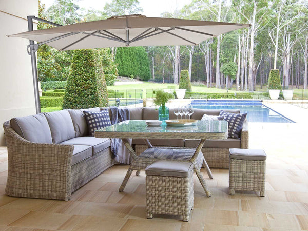 Lynden Premium Olefin® Fabric Cantilever Umbrella - 280 cm Square UMBRELLA OSMEN OUTDOOR FURNITURE - OSMEN OUTDOOR FURNITURE-Sydney Metro Free Delivery