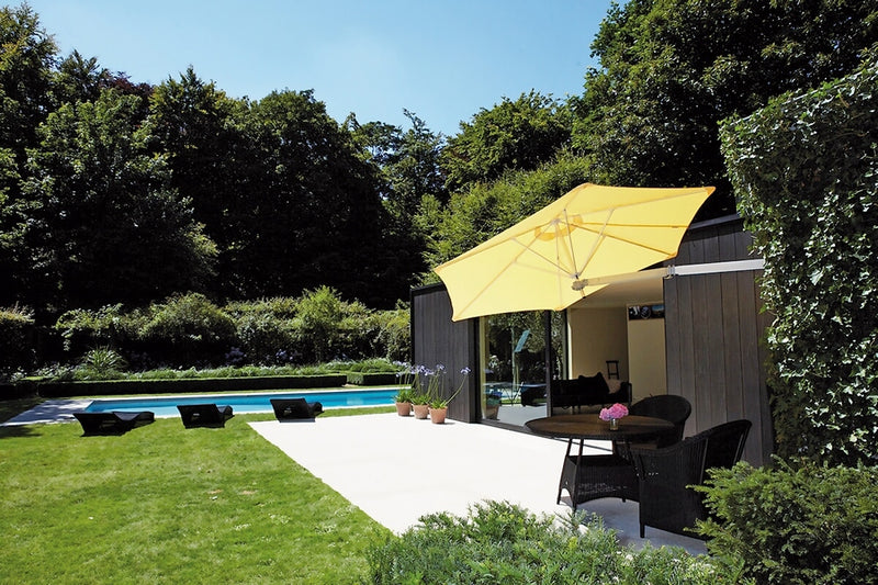 Paraflex Wall-mounted Umbrella - Made In belgium (2.7m Hexagonal)