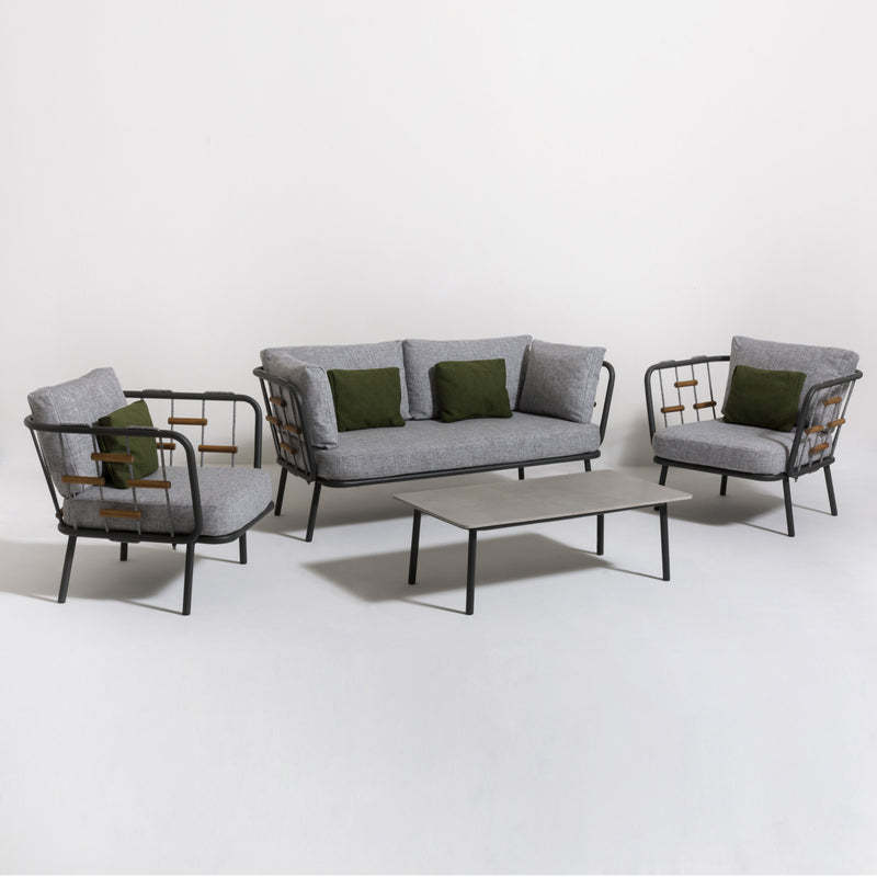 SOHO Lounge 4PC Kit/Set (2/3 seater version) LOUNGE Talenti - OSMEN OUTDOOR FURNITURE-Sydney Metro Free Delivery