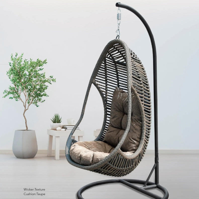 wicker handing egg chair