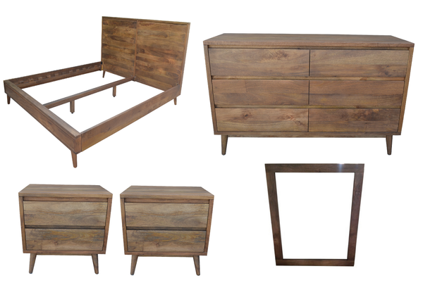 MANGO 4pc King/Queen Dresser Set