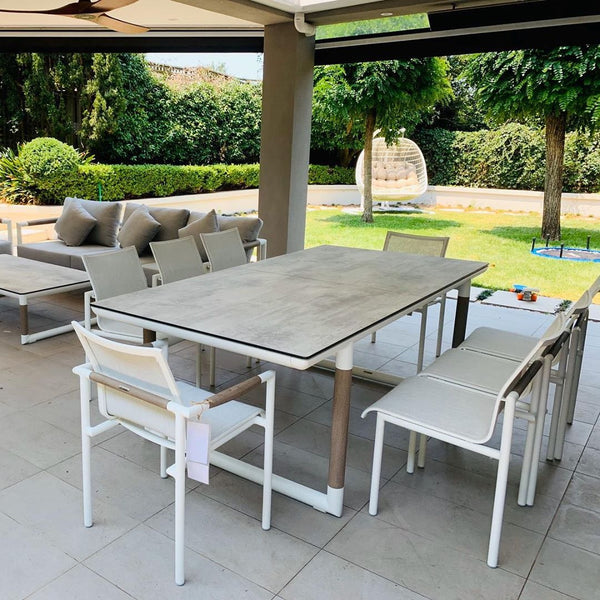 Ballena Premium HPL® top Extension Dining 11pc setting - All weather®