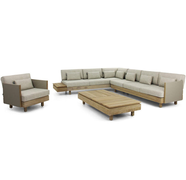 Module - X Premium BeeWett® fabric F1 Lounge setting - All weather(Coastal finish)
