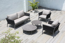 Belle Premium Acrylic® rope 4pc Lounge Set - All weather®