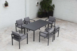 Berlin Dining 7PC Kit/Set DINING OSMEN - OSMEN OUTDOOR FURNITURE-Sydney Metro Free Delivery