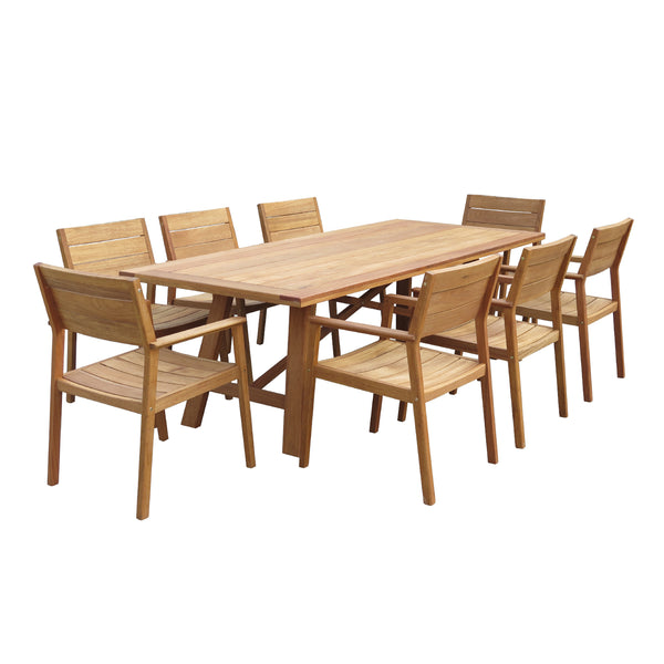 CAPRI-CASCADE DINING SETTING - OSMEN OUTDOOR FURNITURE-Sydney Metro Free Delivery