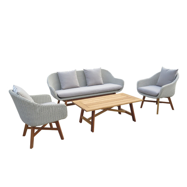 CASCADE 4PCE LOUNGE SETTING LOUNGE GOOD LIVING GLOBAL - OSMEN OUTDOOR FURNITURE-Sydney Metro Free Delivery