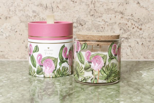 Arty Hearts Soy Candle - Paradise