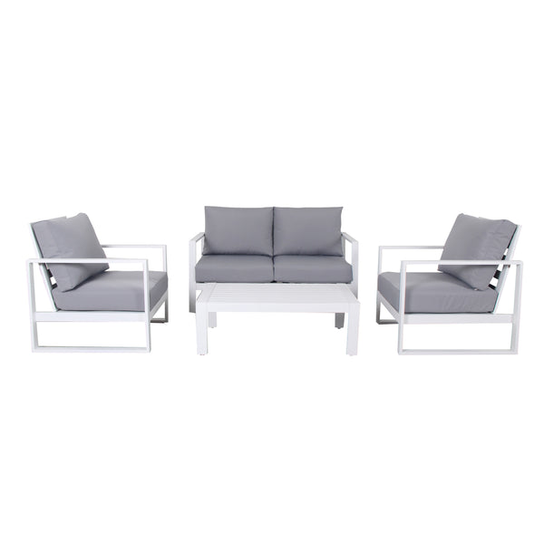 PONZA 4PCE DOUBLE LOUNGE - OSMEN OUTDOOR FURNITURE-Sydney Metro Free Delivery