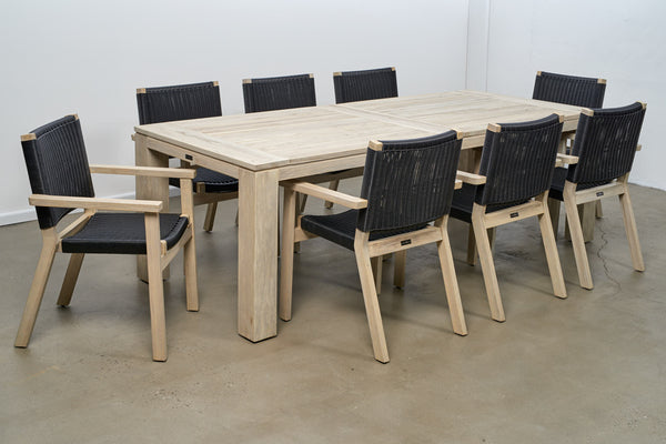Rio Dining 9PC Kit/Set DINING MELTON CRAFT - OSMEN OUTDOOR FURNITURE-Sydney Metro Free Delivery