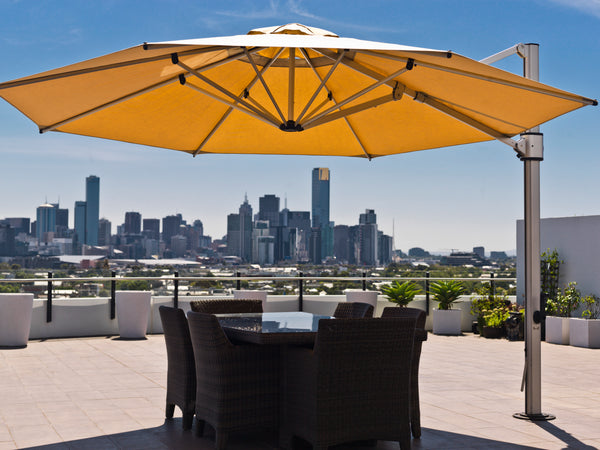 Eclipse 100% solution dyed 4m Octagonal cantilever umbrella- All weather®