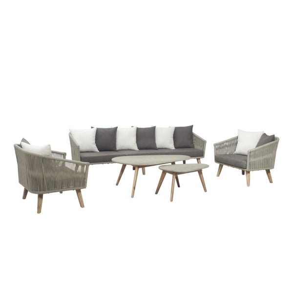 Copenhagen Lounge 5PC Kit/Set (4-seater version) LOUNGE LY - OSMEN OUTDOOR FURNITURE-Sydney Metro Free Delivery