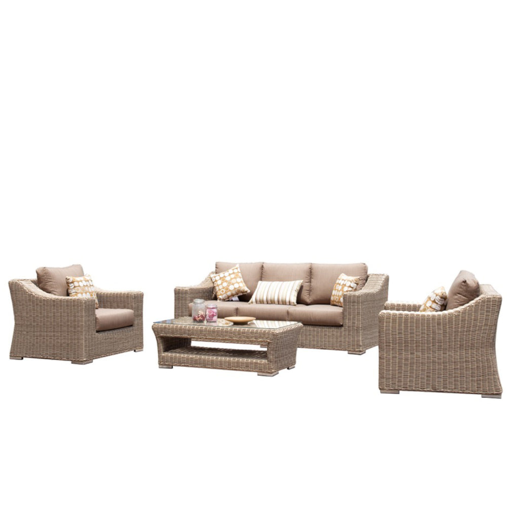 Hobart lounge 4pc kit set osmen outdoor furniture