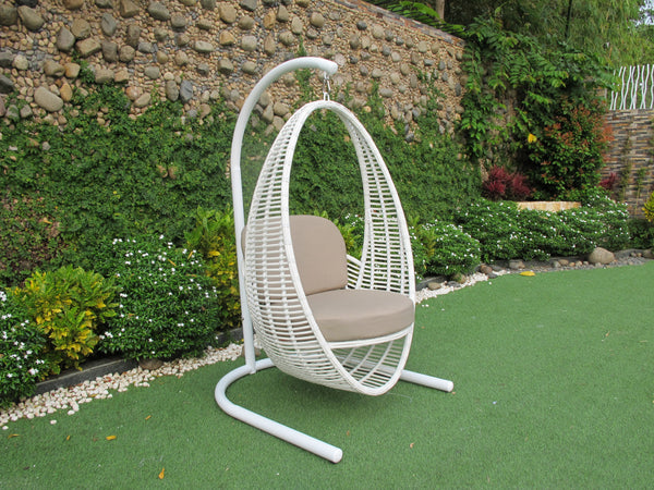 Havana Premium Bamboo Wicker® Hanging Chair - Sunbrella fabric®(All Weather) HANGING EGG Nest - OSMEN OUTDOOR FURNITURE-Sydney Metro Free Delivery