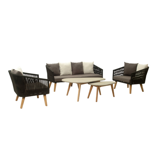 Copenhagen Lounge 4PC Kit/Set (2.5-seater version) LOUNGE LY - OSMEN OUTDOOR FURNITURE-Sydney Metro Free Delivery