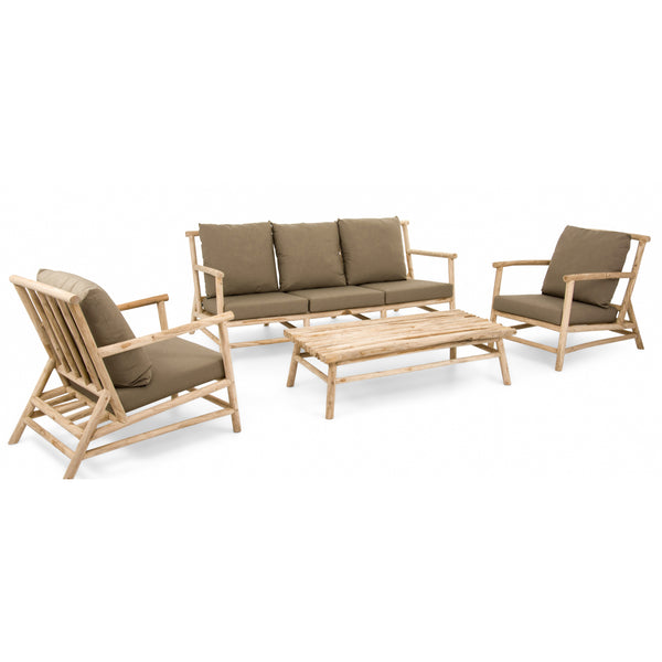 Teca Coastal style 4PC Lounge setting LOUNGE Applebee - OSMEN OUTDOOR FURNITURE-Sydney Metro Free Delivery