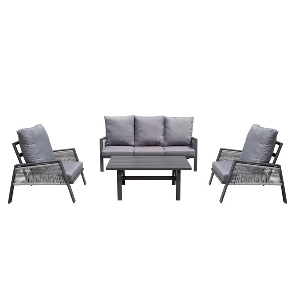 Topaz Lounge 4PC Kit/Set LOUNGE JOHNSON - OSMEN OUTDOOR FURNITURE-Sydney Metro Free Delivery