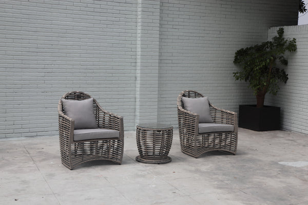 Hunter valley Solaris wicker® hampton style 3pc Balcony setting