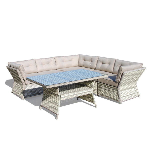 WHITSUNDAY Modular 6PC Kit/Set (End of Line) LOUNGE Nest - OSMEN OUTDOOR FURNITURE-Sydney Metro Free Delivery