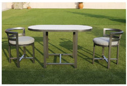 Junon 3pc Aluminium Dining Set