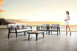 LIMONE Lounge 4PC Kit/Set LOUNGE 0 - OSMEN OUTDOOR FURNITURE-Sydney Metro Free Delivery
