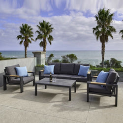 LYON Lounge 4PC Kit/Set LOUNGE MELTON CRAFT - OSMEN OUTDOOR FURNITURE-Sydney Metro Free Delivery