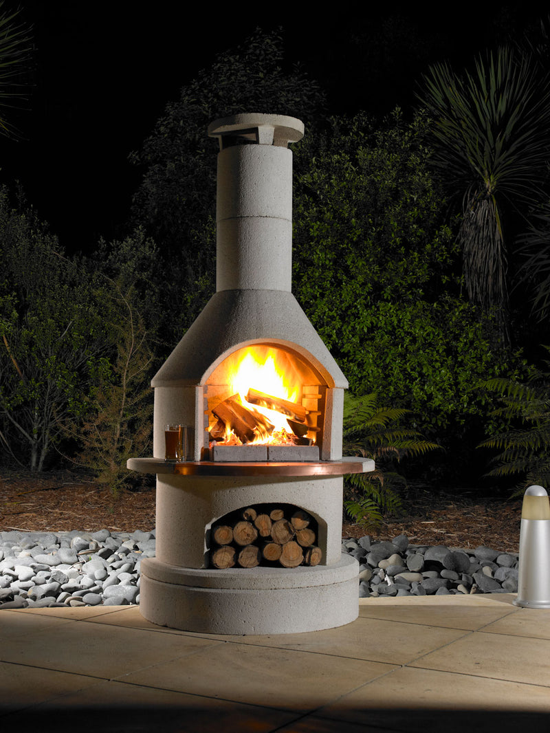 RONDO OUTDOOR FIREPLACE HEATINGANDBBQ buschbeck - OSMEN OUTDOOR FURNITURE-Sydney Metro Free Delivery