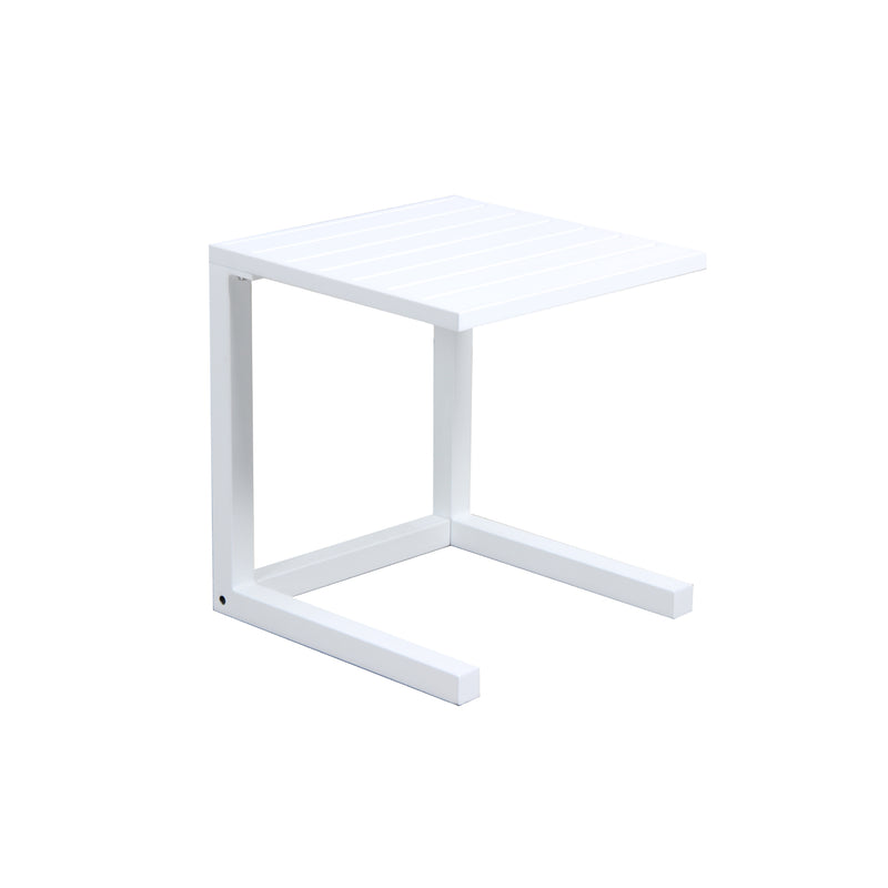 MATZO C SIDE TABLE - WHITE ACCESSORIES GOOD LIVING GLOBAL - OSMEN OUTDOOR FURNITURE-Sydney Metro Free Delivery