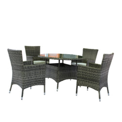 Milford 5PC Round Dining Setting DINING VIVIN - OSMEN OUTDOOR FURNITURE-Sydney Metro Free Delivery